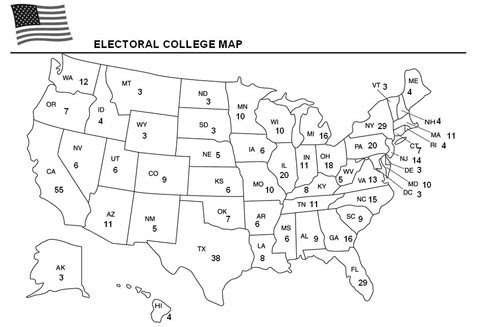 Image Result For Map Of Electoral College