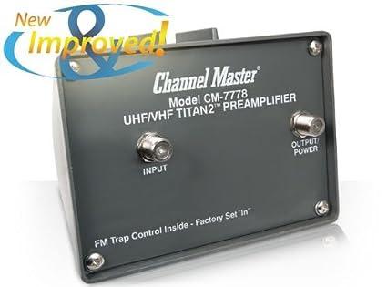 Channel Master Cm7777 Titan2 Vhf Uhf Tv Antenna Preamplifier Forodenuevastecnologias
