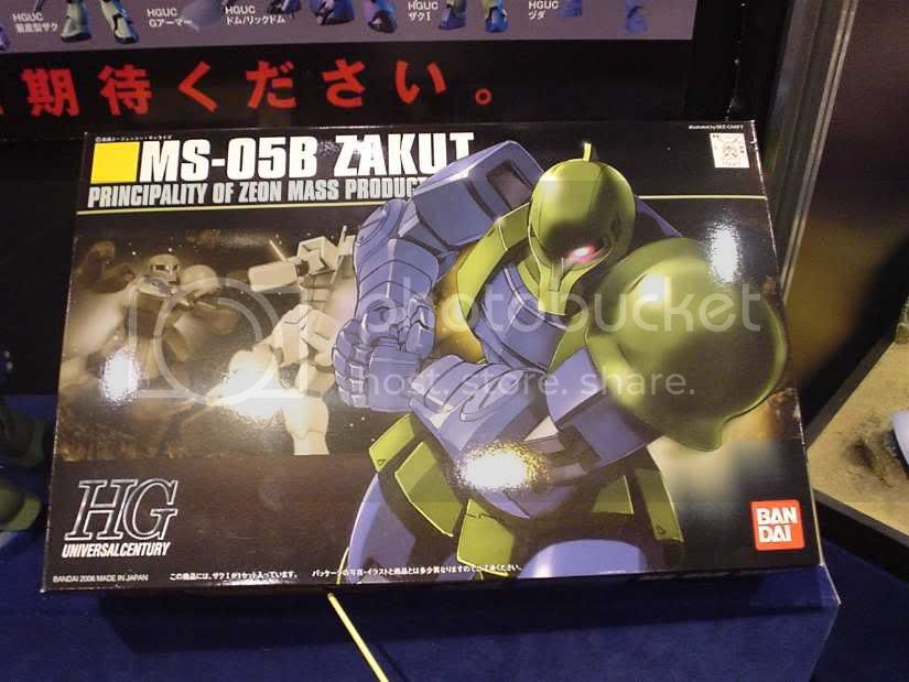 HGUC Zaku 1, many arnaments are included, although it only uses its shoulder armor to attack in the anime
