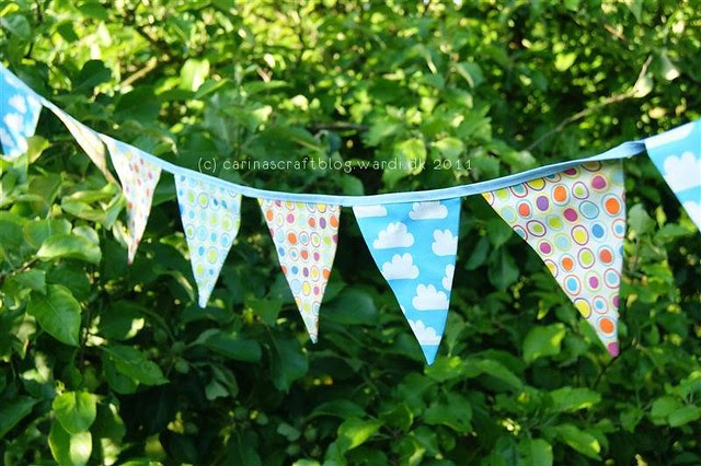 Bunting using some of my Spoonflower designs