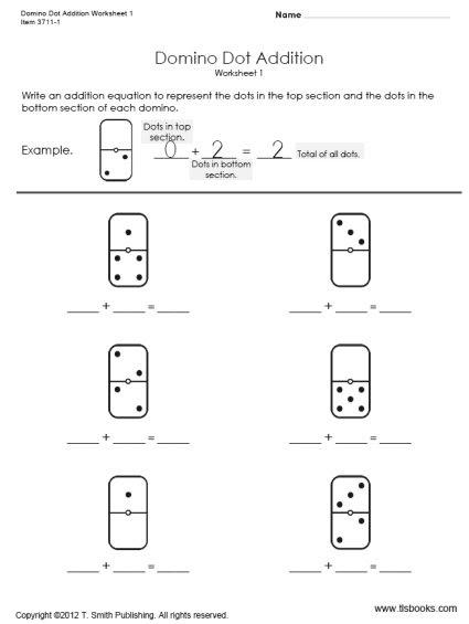Kindergarten Domino Math Worksheets - Preschool Worksheet Gallery