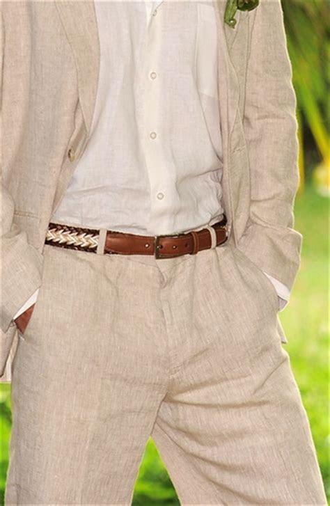 natural cream linen suit wedding linen pants linen