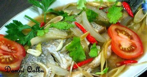damai qalbu ikan siakap masak stim ala thai