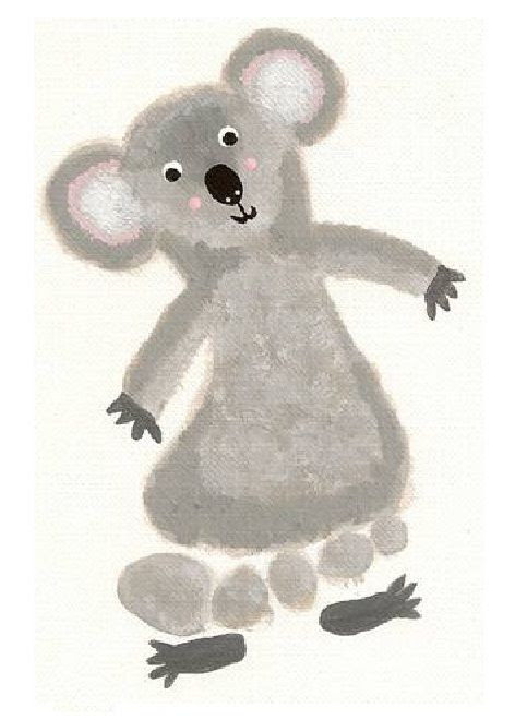 Use your foot and create your very own Cooper Koala! #koala #Australia #crafts