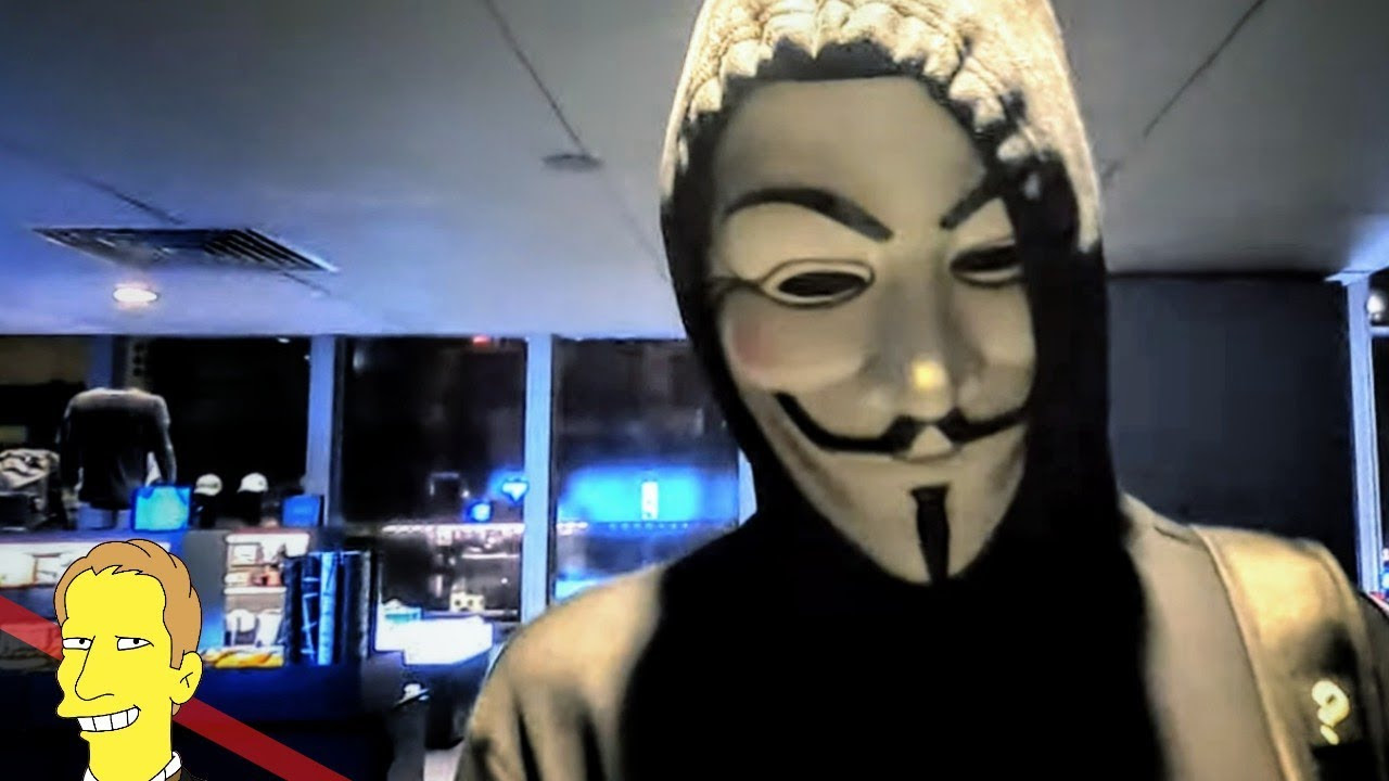 close up of Guy Fawkes mask at SPYSCAPE Interactive Spy Museum New York