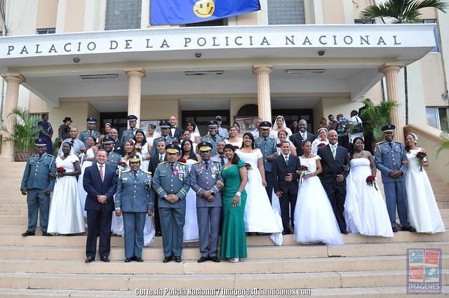 Boda Colectiva Policias dominicanos en San Valentin