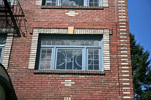 Bike In the Window by Seattle Daily Photo