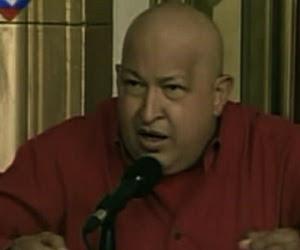 Hugo Chávez hoy en Venezolana de Televisión.