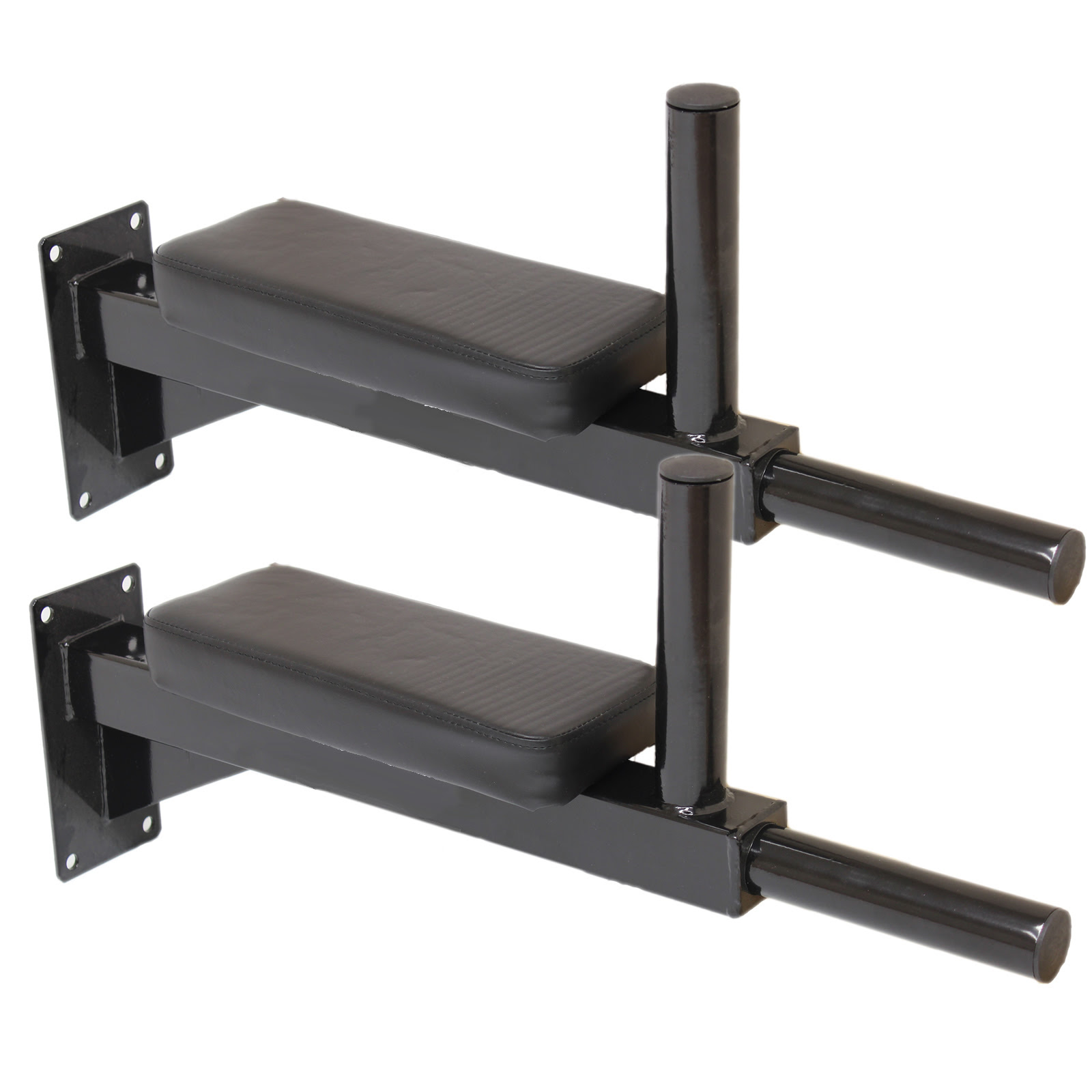 MAX FITNESS WALL MOUNTED DIP STATION KNEE RAISE BARS ABS ...