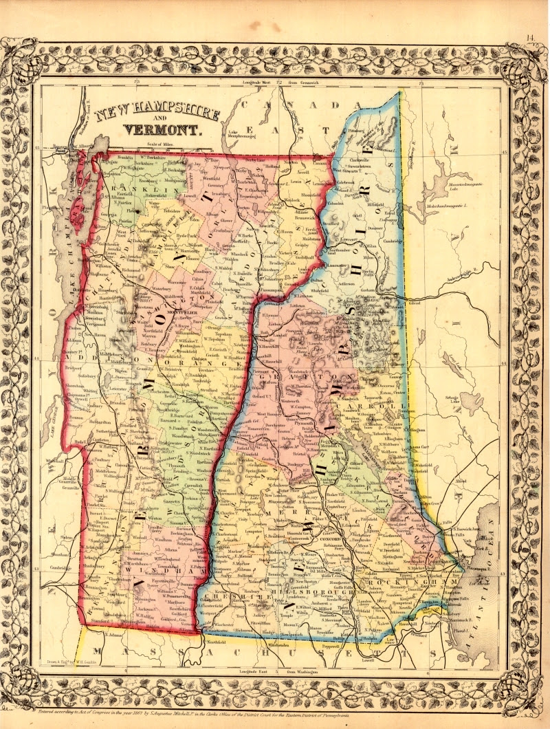 Maps Us Map New Hampshire - New hampshire in us map