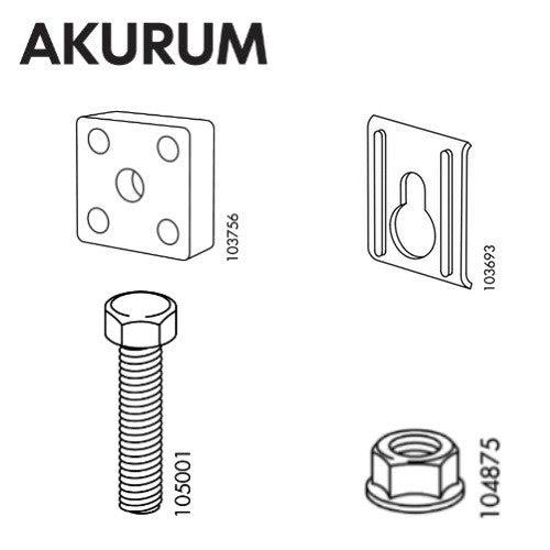 IKEA AKURUM Suspension Rail Set - FurnitureParts.com