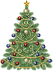 Large Transparent Christmas Tree with Star Clipart