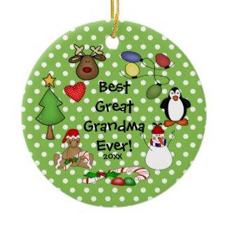 Best Great Grandma Ever Christmas Ornament