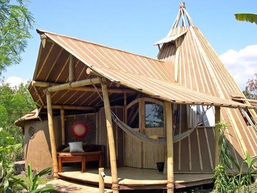 21 Desain Rumah Bambu Unik Sederhana Modern | RUMAH IMPIAN