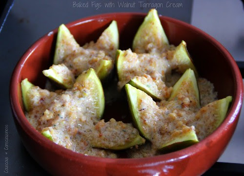Baked Figs with Walnut Tarragon Cream 3