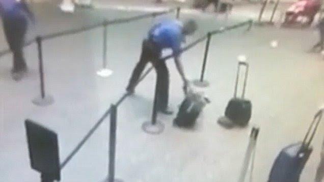 Image result for Army veteran TSA agent runs exploding battery away from passengers