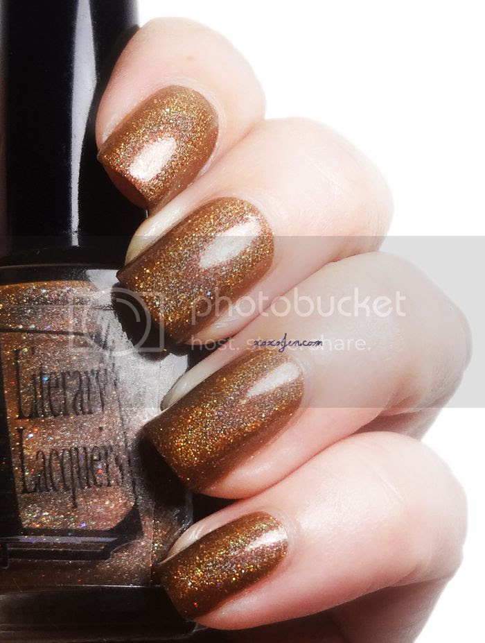 xoxoJen's swatch of Literary Lacquer: Luggage For Your Journey
