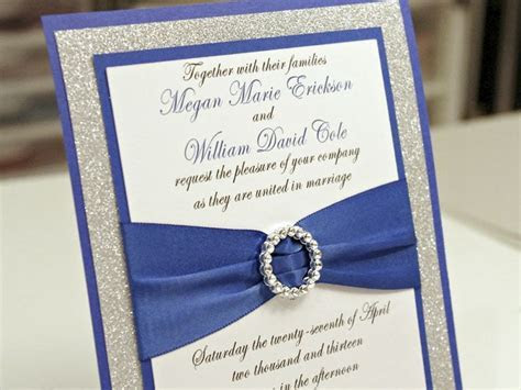 blue wedding invitations cheap   royal blue diy wedding