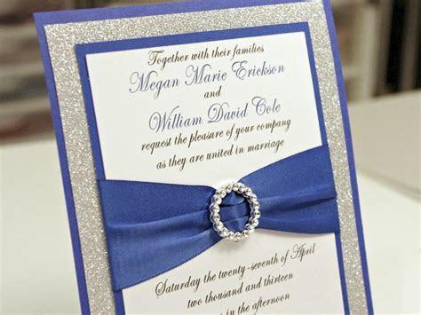 blue wedding invitations cheap   royal blue diy wedding