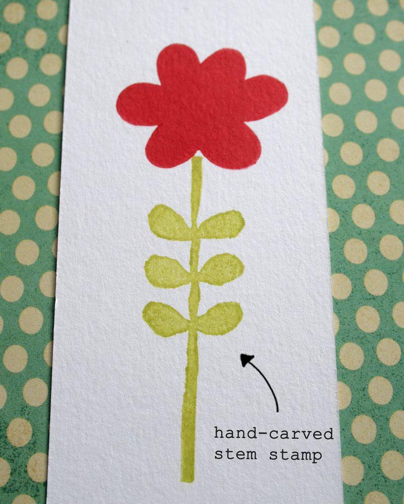 Eraser stamping - flower 2