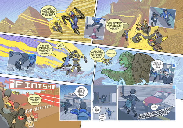 'Danger Racers' pp. 3-4