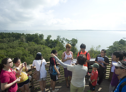 Wong Ley Kun leading the free guided tour of Chek Jawa by the Naked Hermit Crabs