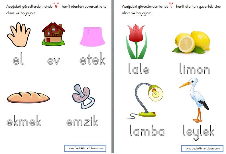 E Ve L Sesi Hissettirme çalışmaları Okul Etkinlikleri Eğitime