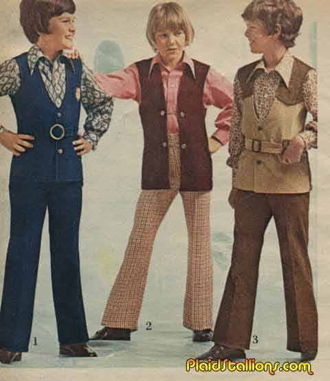 70s kid fashion plaidstallions