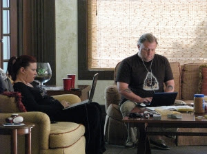 Rain Graves and Wes at work in the Safe Room at the Mansion. Photograph by Sephera Giron.