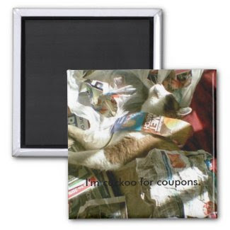 snowshoe I'm cuckoo for coupons kitty 2 Inch Square Magnet