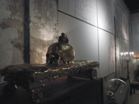 Franko B - Fil Rouge - veduta della mostra presso Nonostante Marras, Milano 2013