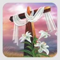 Easter and Palm Sunday Crosses and Scenes Stickers