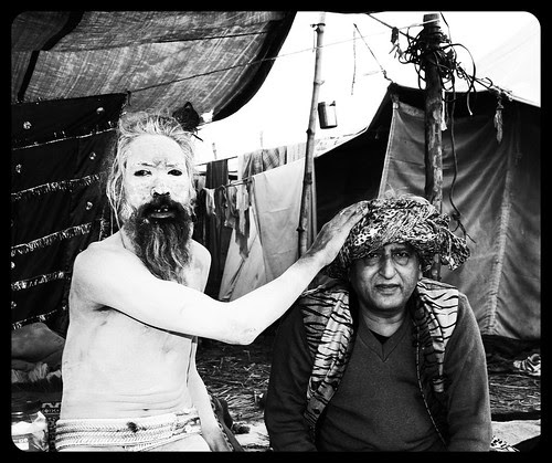 Beggar Poet Blessed By The Naga Babas At The Maha Kumbh by firoze shakir photographerno1