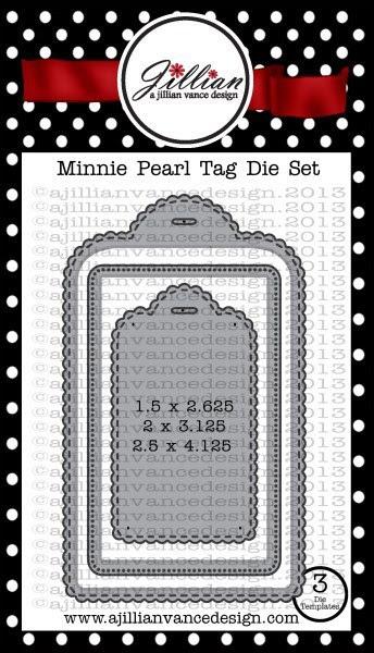 Minnie Pearl Tag Die Set