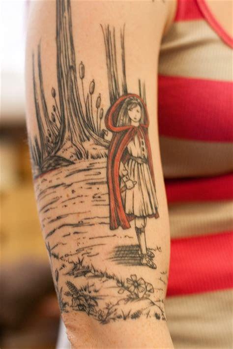 red riding hood arm tattoo arm tattoos tats