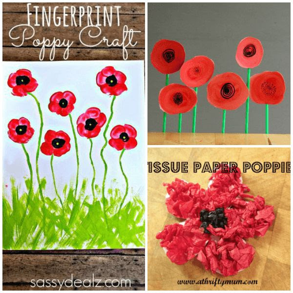 11 Creative Veteran's Day Poppy Crafts