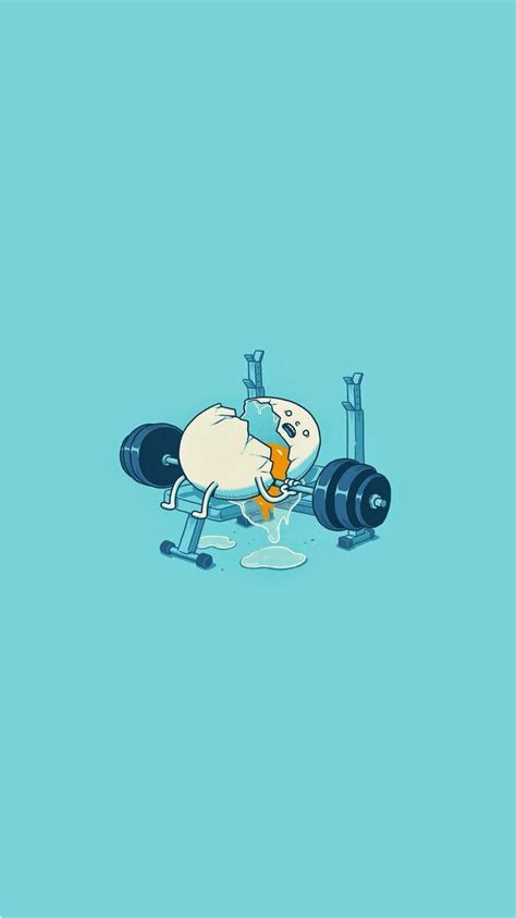 egg workout accident funny iphone  wallpaper hd