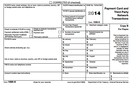 New Form 1099 K Reporting