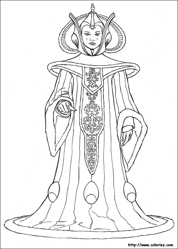 Coloriage Star Wars Princesse Leia Coloriage