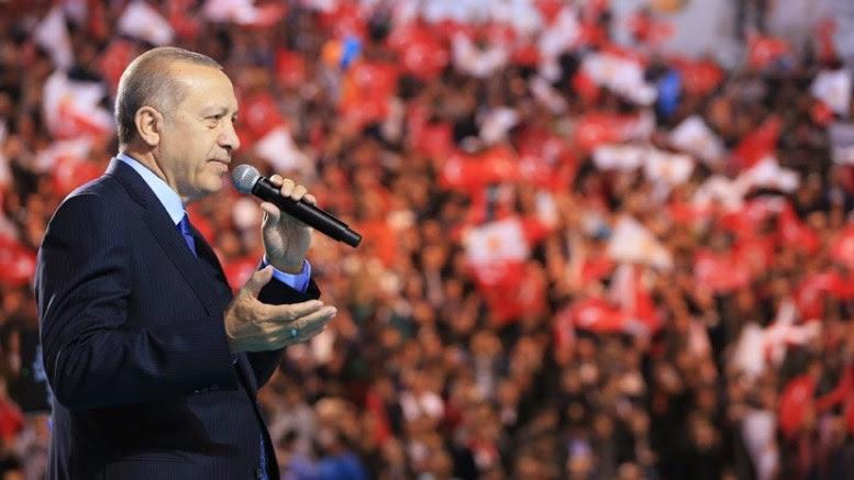 Ο Πρόεδρος της Τουρκίας, Ταγίπ Ερντογάν. Photo via Turkish Presidency