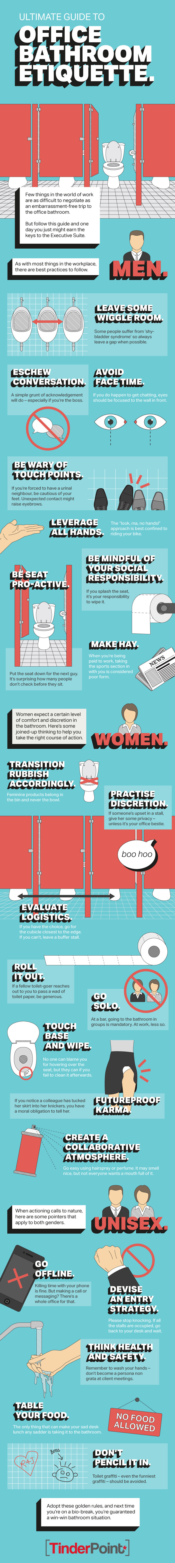 Infographic: The Ultimate Guide to Office Bathroom Etiquette
