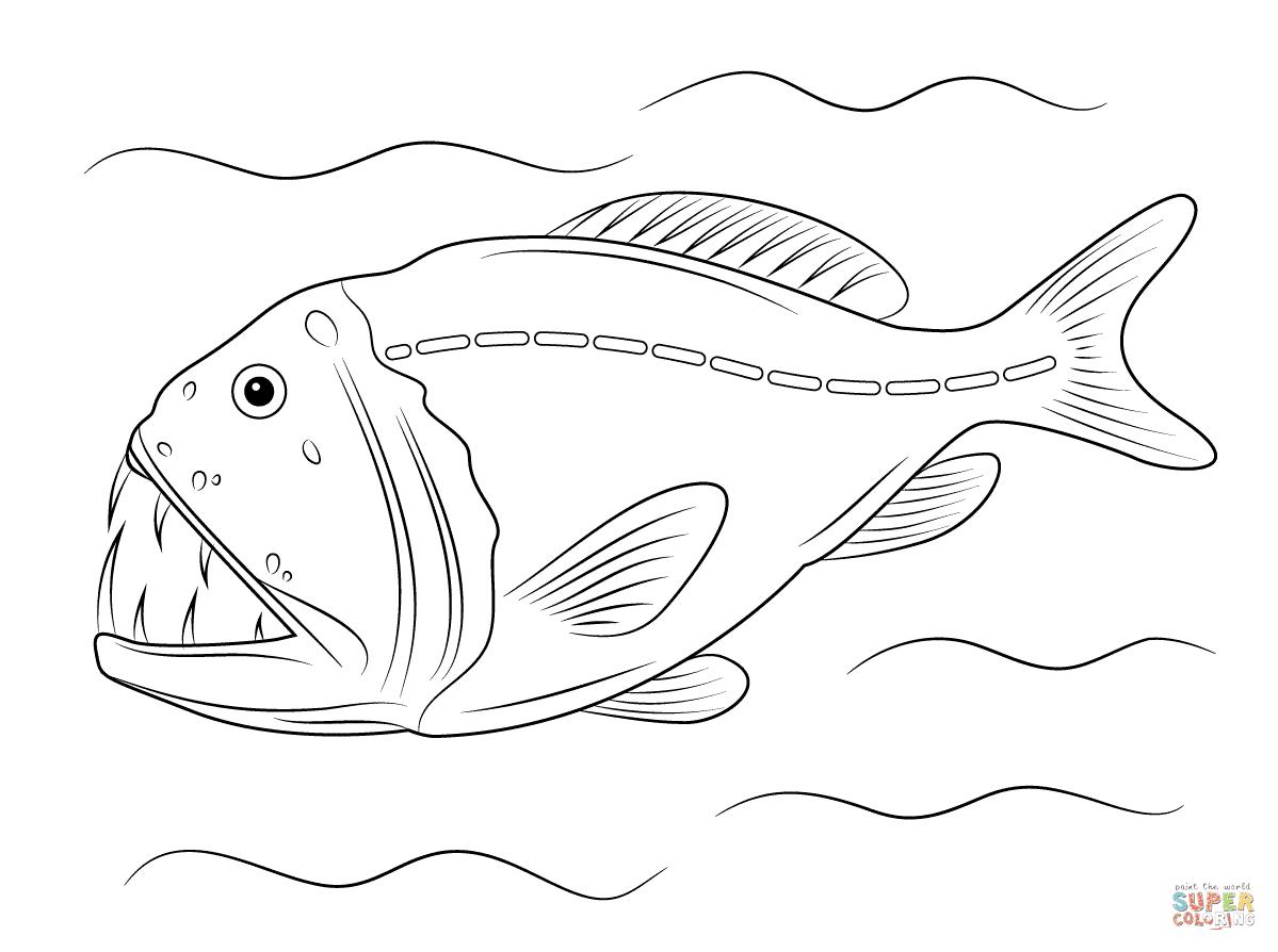 Ausmalbilder Tiefseefische Malvorlagen Kostenlos Zum Ausdrucken