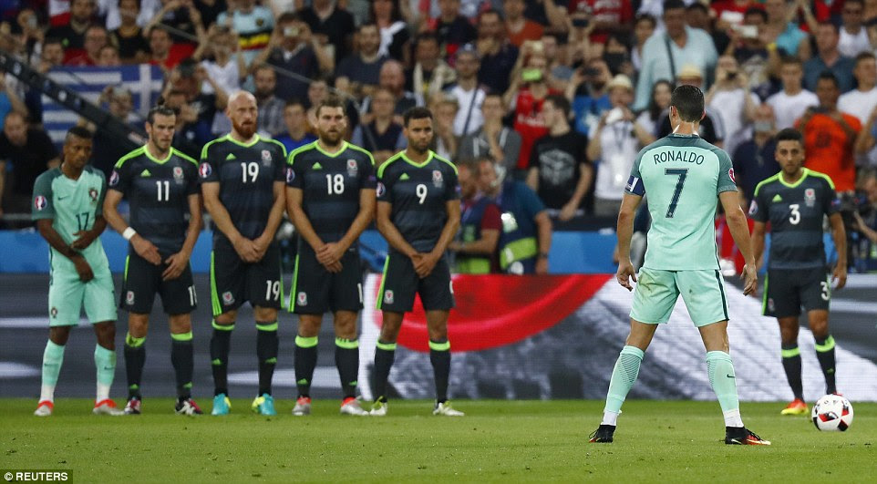 Ronaldo went close to adding a third with a free-kick from range, but his effort whistled over the crossbar for Portugal