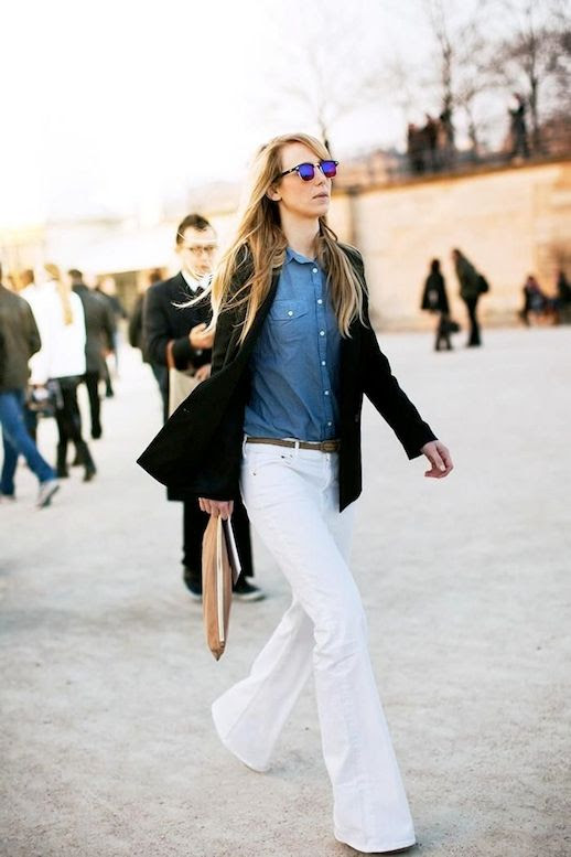 Le Fashion Blog 9 Ways To Wear Flared Jeans Wide Leg Denim Blazer Chambray Shirt White Jeans Via Stockholm Streetstyle photo 8-Le-Fashion-Blog-9-Ways-To-Wear-Flared-Jeans-Wide-Leg-Denim-Blazer-Chambray-Shirt-White-Jeans-Via-Stockholm-Streetstyle.jpg
