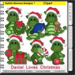 Daniel Loves Christmas Clipart - CU