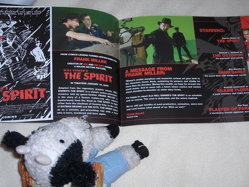 The Spirit movie book interiors