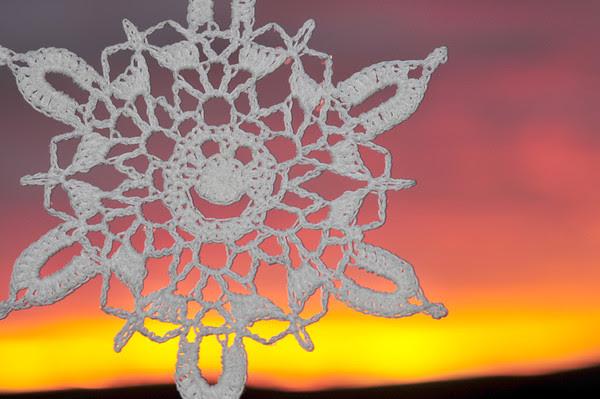 Candid Snowflake Sunrise