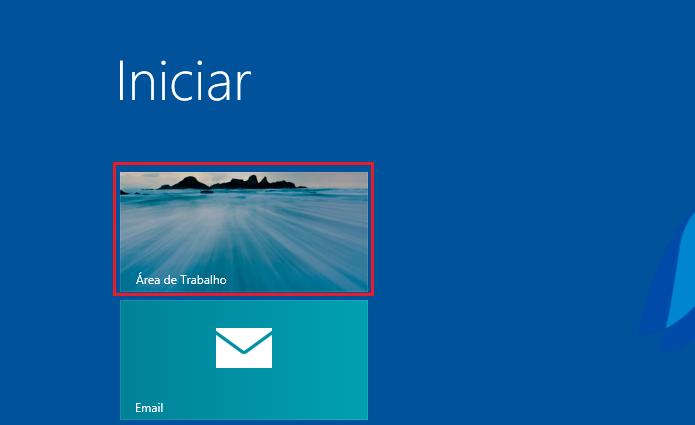 Acessando a área de trabalho do Windows 8 (Foto: Reprodução/Edivaldo Brito)