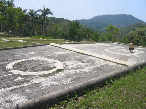 Coffee drying circles, Pinar del Rio