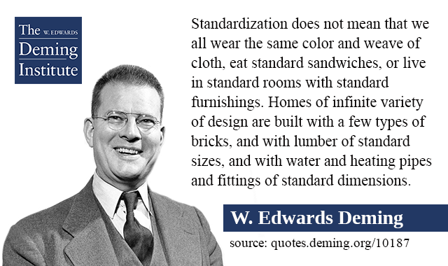 Standardization Does Not Mean That We All Wear The Same Color And